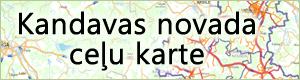 Kandavas novada ceļu karte.