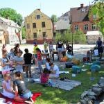 Jauniešu centra Nagla aktivitātes Promenādē svētku trešajā dienā
