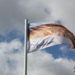 """Nama sētā plīvo karogs """"Kalndruvas"""""""