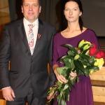 Svētku kūku apbalvotajiem bija izcepusi Latvijas labākā kūku cepēja, kandavniece Līga Grecka
