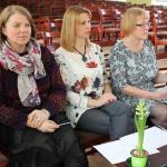 Dalībniekus vērtēja žūrija- ( no kreisās) Guna Ošeniece, tūrisma informācijas centra vadītāja, Egija Lāce, Zantes kultūras nama vadītāja, Dagnija Gudriķe, novada domes sabiedrisko attiecību speciāliste