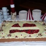 Svētku tortes autore kandavniece Viktorija Ābele, 2017. gada kūku konkursa uzvarētāja
