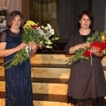 Kandavas novada Pateicības saņēma ( no labās) Anita Gaile un Ilze Celma