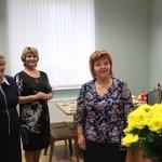 Ar ziediem tiek sveikta Zemītes pagasta pārvaldes vadītāja Rita Diduha