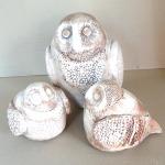 """Elza Sondra Gumska. """"Putnu ģimene"""".(Keramika, ped. I. Brīniņa)."""