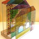 """Liene Zvagule. """"Stikla māja"""",(porcelāna apgleznošana, ped. I. Šmēla)."""